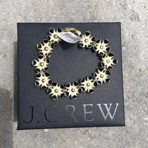 J. Crew Flower Enamel Bracelet